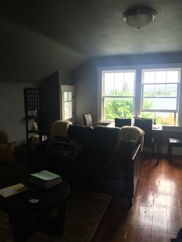 Living room of our little apartment